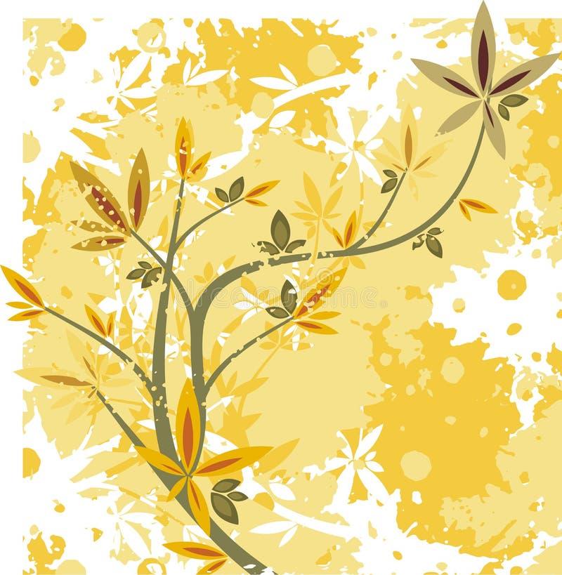 Floral branch series stock illustration