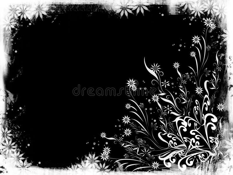 Floral branco ilustração do vetor
