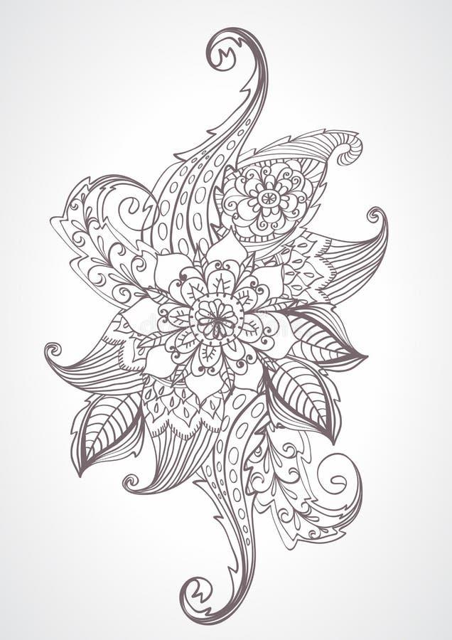 Download Floral Bright Doodle Illustration Stock Illustration - Image: 28216008