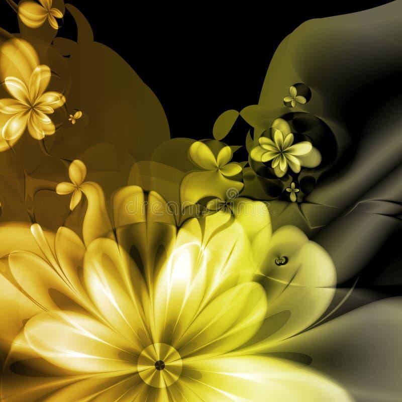 Floral brilhante brilhante ilustração stock