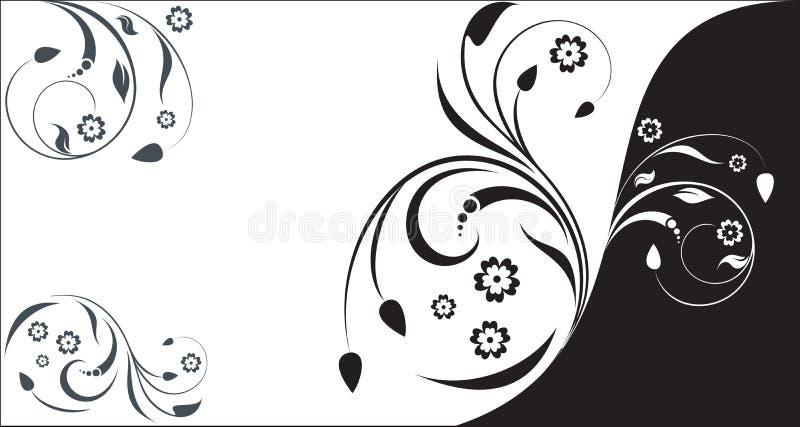 Floral business card stock illustration