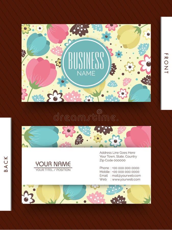 floral business card design stock illustration illustration of