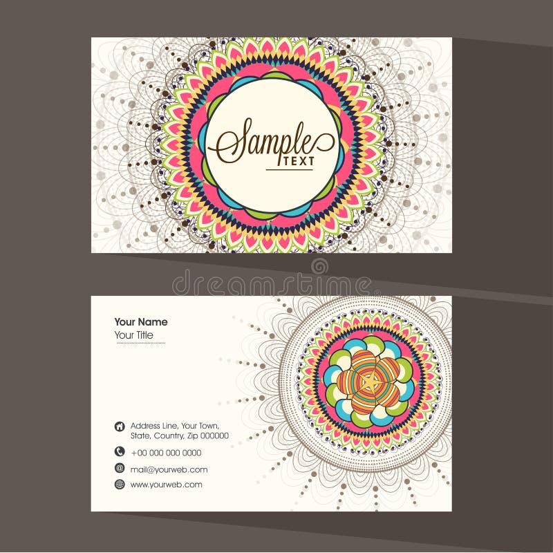 floral business or visiting card design stock illustration