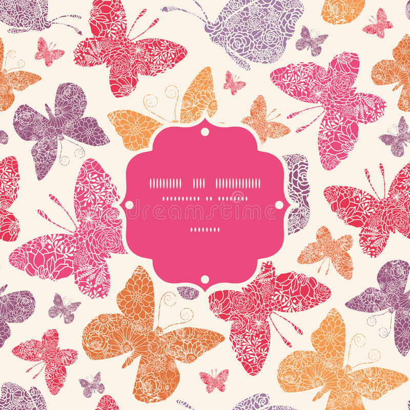 Download Floral Butterflies Frame Seamless Pattern Stock Image - Image: 33583001