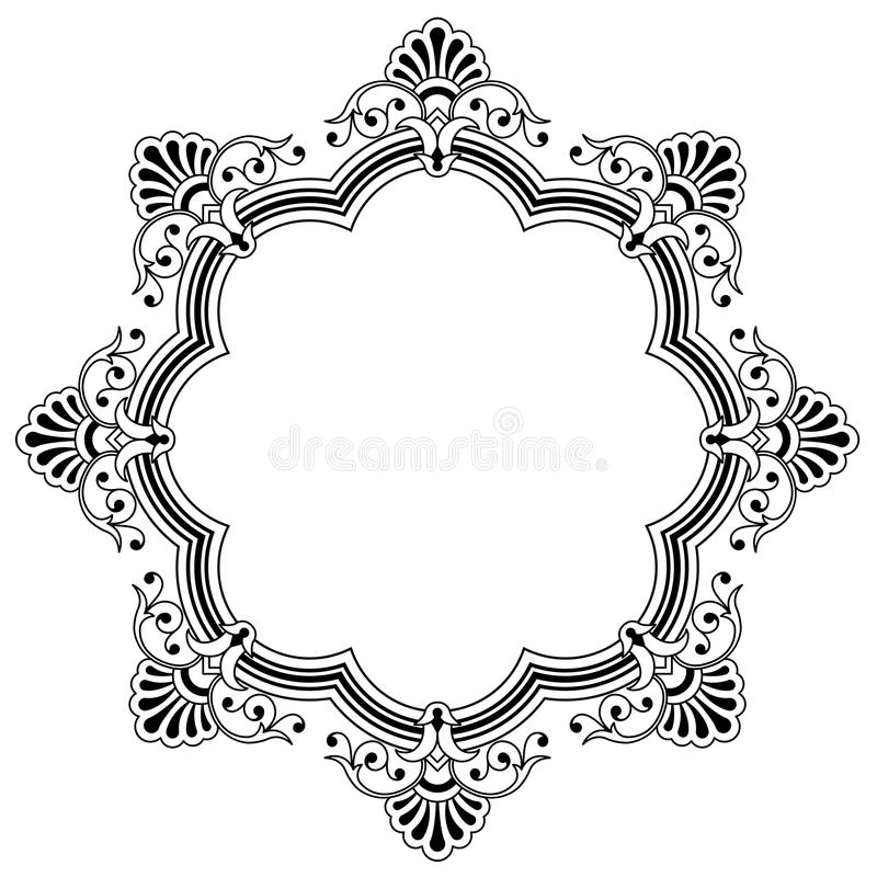 Download Floral Calligraphic Border Stock Vector Illustration Of Bold