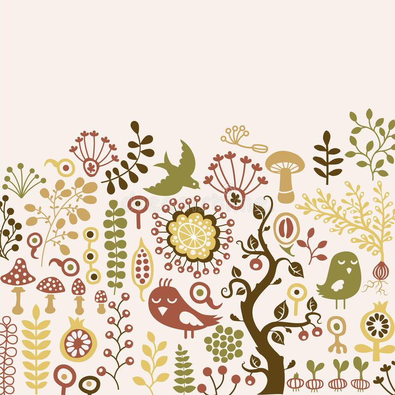 Download Floral card stock vector. Image of green, plant, beauty - 23259451