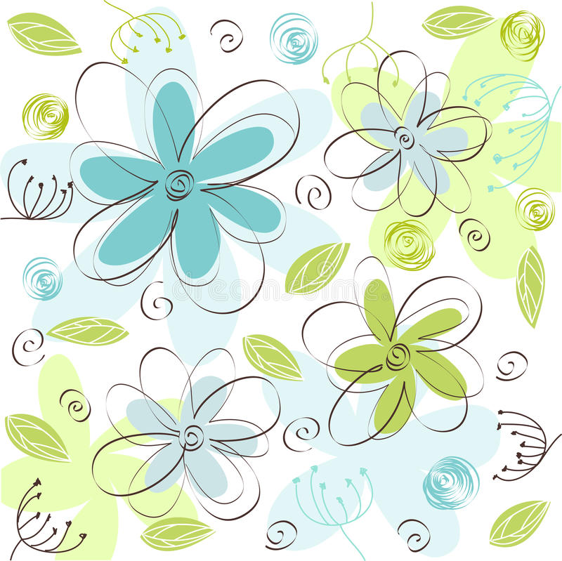 Floral card stock illustration