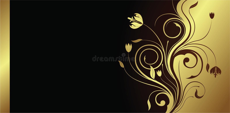 Floral card royalty free illustration