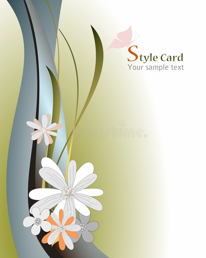 Free Floral Card Royalty Free Stock Photos - 9138248
