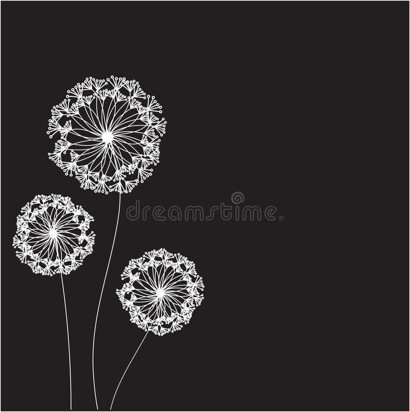 Download Floral Card With Abstract Flowers. Stock Illustration - Image: 15969558