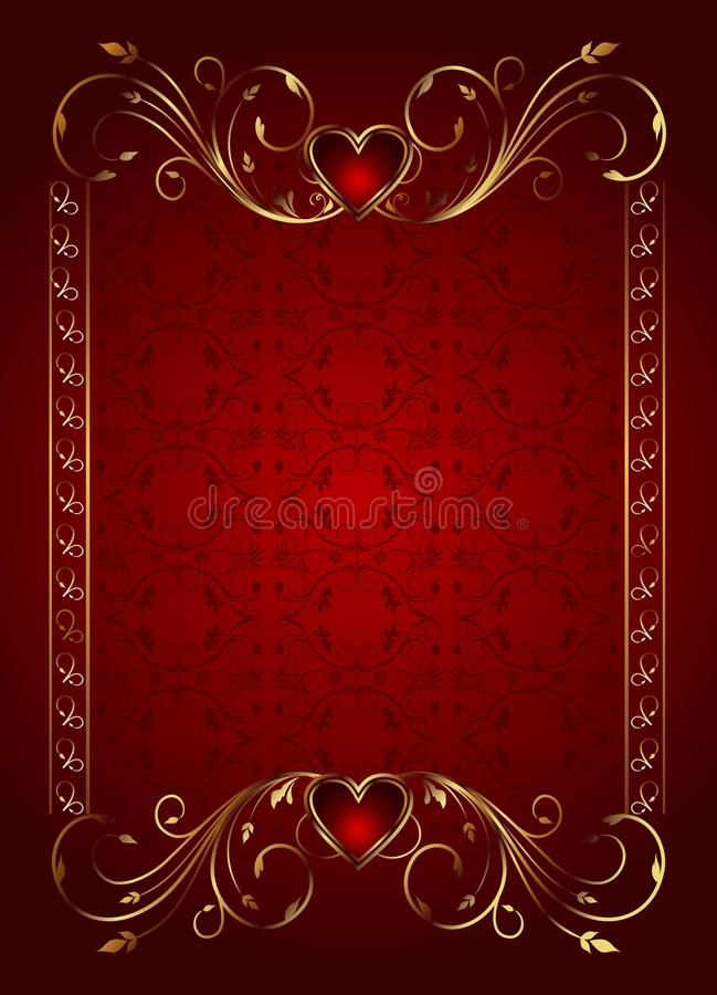 Floral card with hearts for Valentine s day