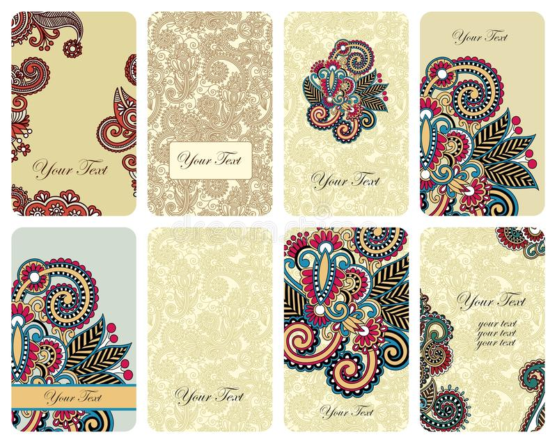 Download Floral card set stock vector. Image of flourish, floral - 21162220