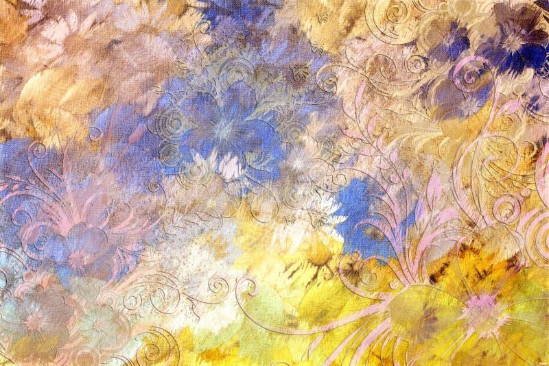 Floral carnival stock illustration