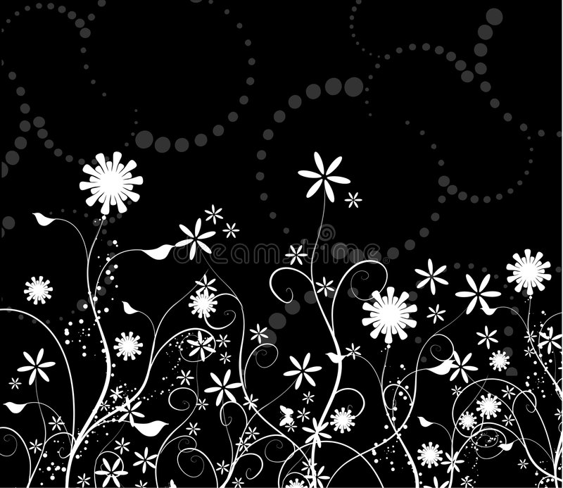 Floral chaos stock illustration