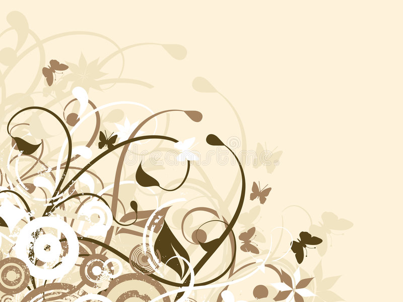 Floral chaos royalty free stock images