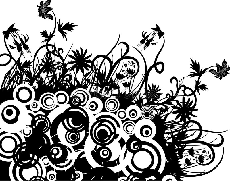 Line Drawing Flower Vector : Floral chaos vector stock vector. illustration of border 1792594