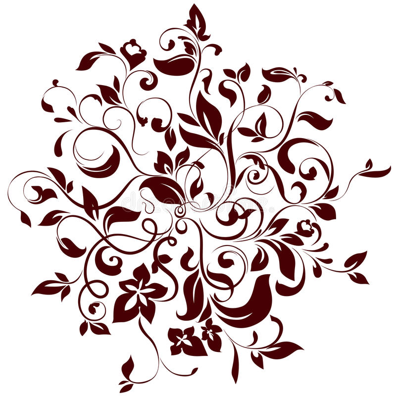 Floral circle vector illustration