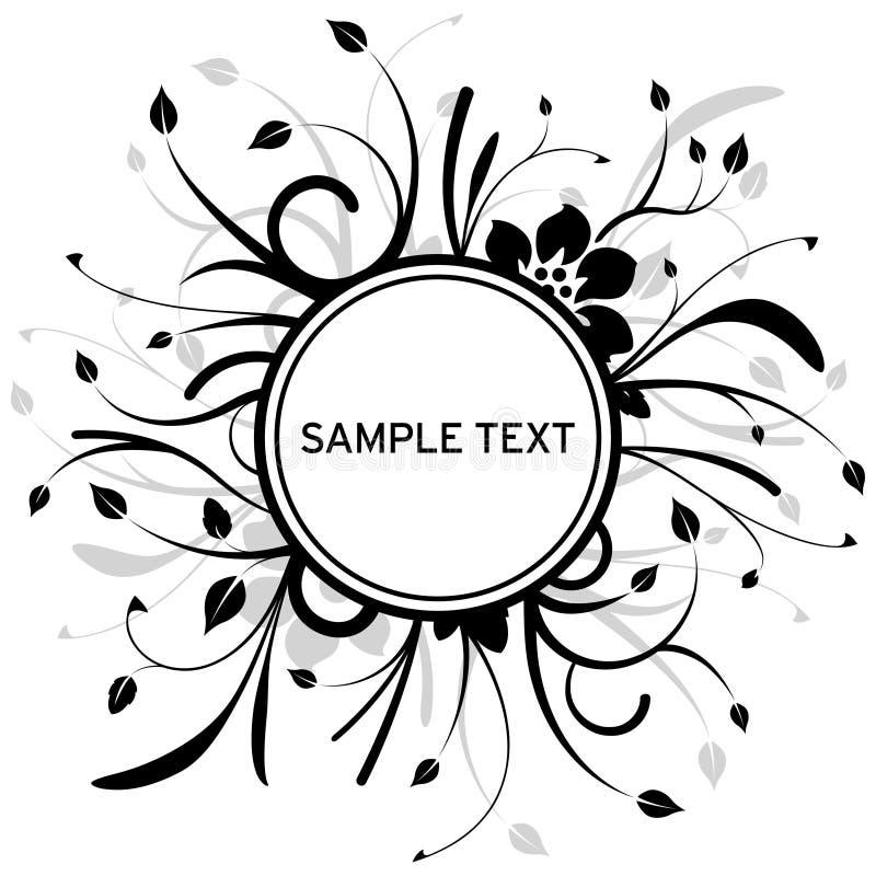 Floral circle design stock illustration