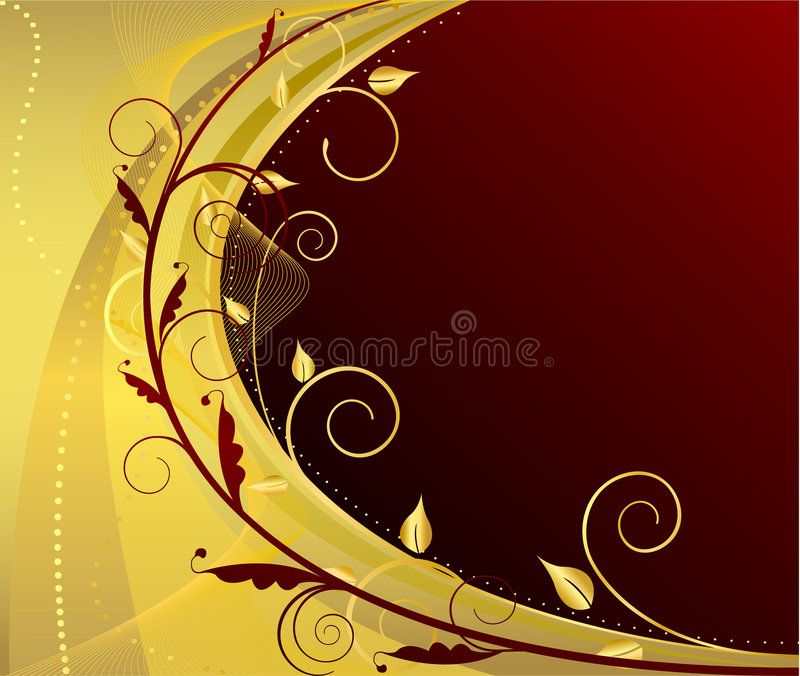 Floral classic artistic design background. Illustration vector illustration