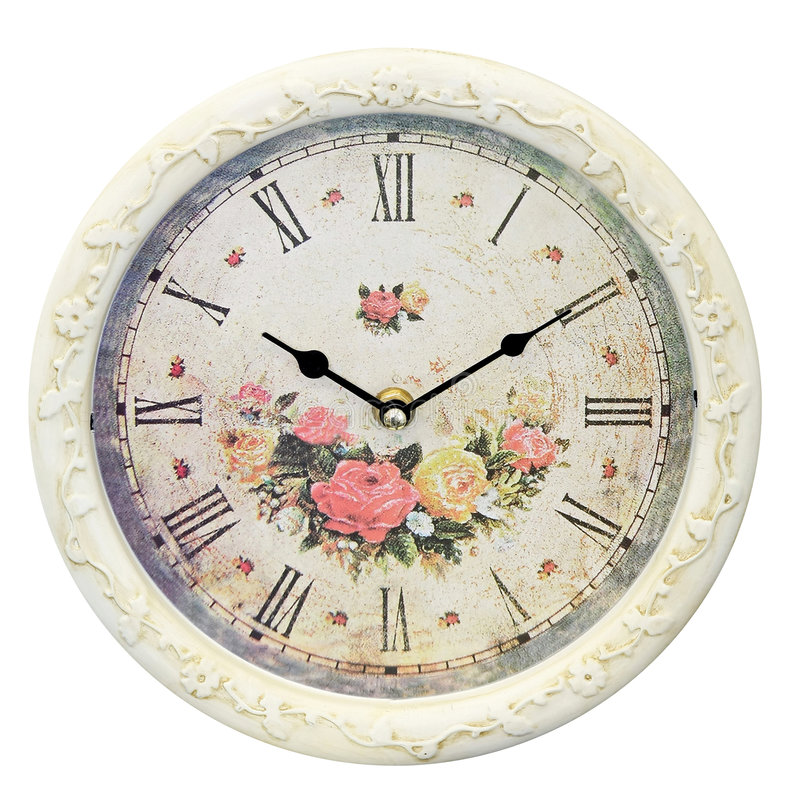 Floral clock stock photo