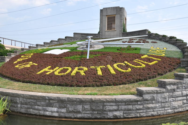 Floral Clock at Niagara Falls royalty free stock photography