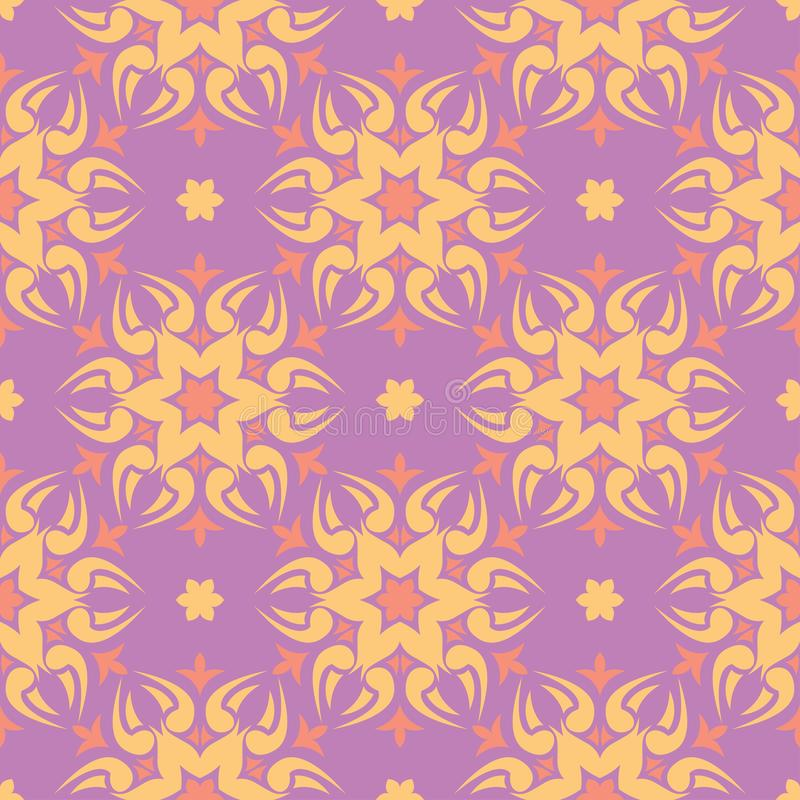 Floral colored seamless pattern. Bright background stock illustration