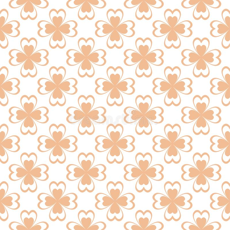 Floral colored seamless pattern. Brown and white background with fower elements for wallpapers vector illustration
