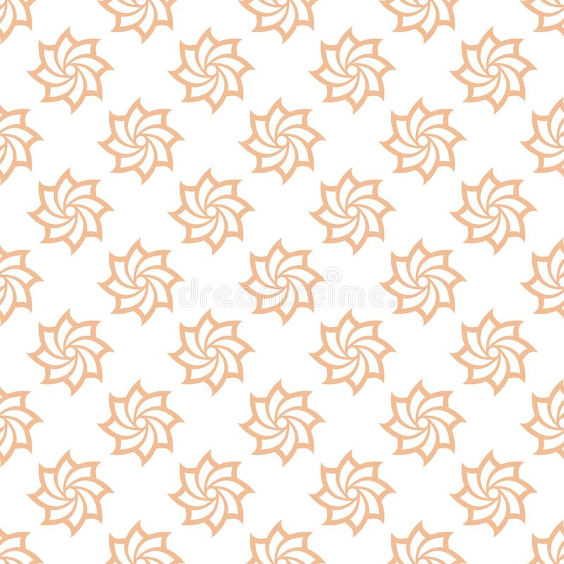Floral colored seamless pattern. Brown and white background with fower elements for wallpapers royalty free illustration