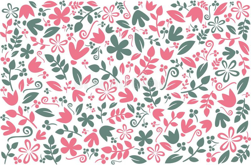 Floral colorful background design. Vector background with elegant floral elements. Pattern with floral for wallpaper, textiles, co vector illustration