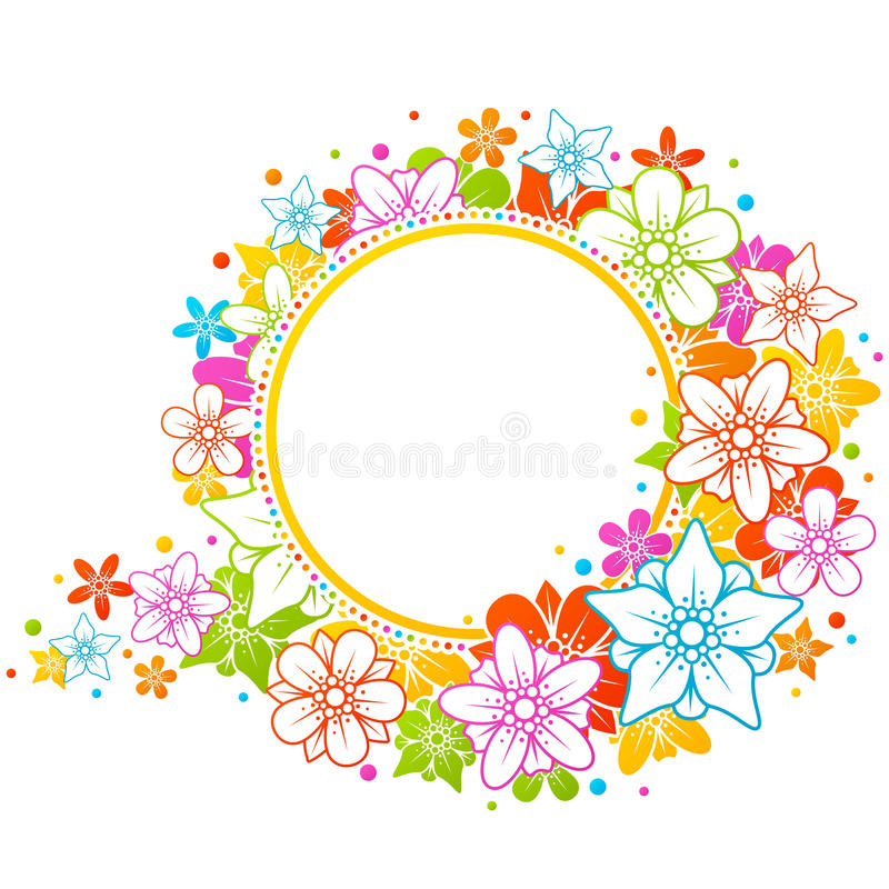 Free Floral Colorful Frame Royalty Free Stock Photography - 15131307