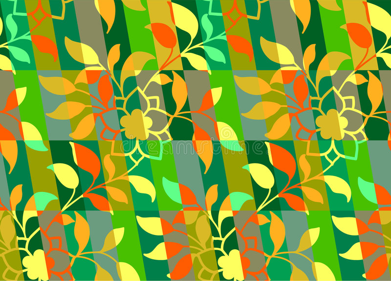 Floral colorful pattern seamless stock illustration