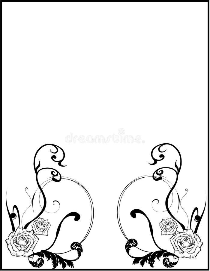 Download Floral com rosas e frame ilustração stock. Ilustração de ilustração - 10065557