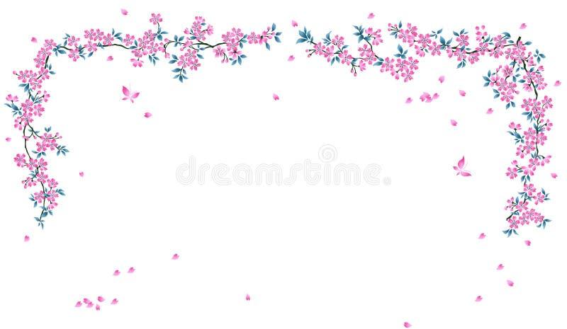 Floral cor-de-rosa ilustração royalty free