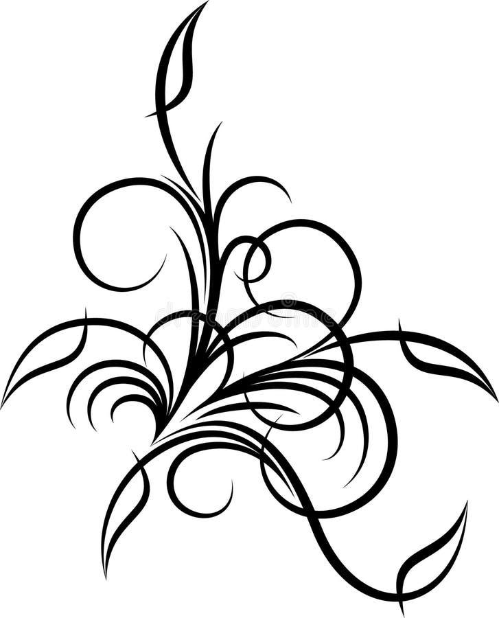 Floral corner royalty free illustration