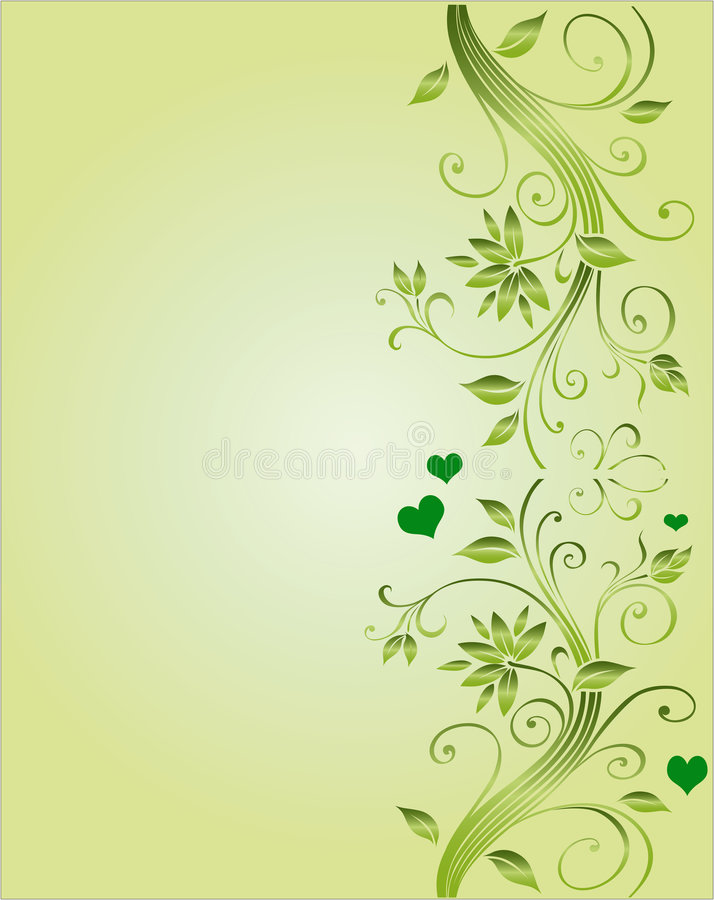 Floral corner design for wedding vector illustration