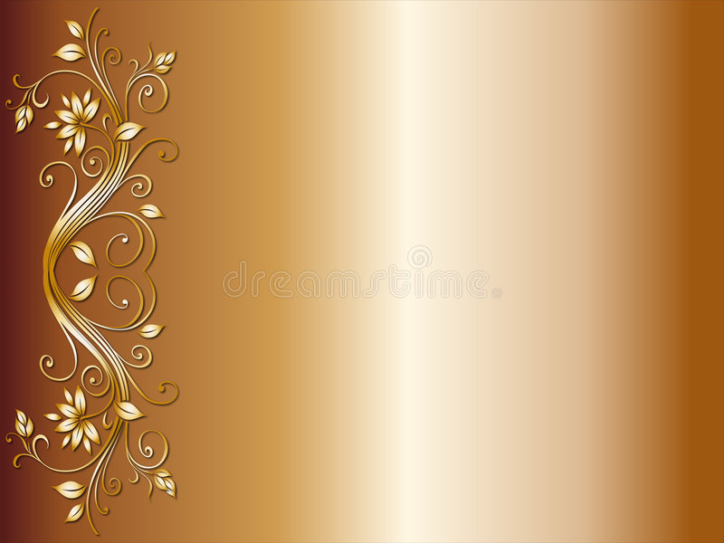 Floral corner design for wedding stock illustration