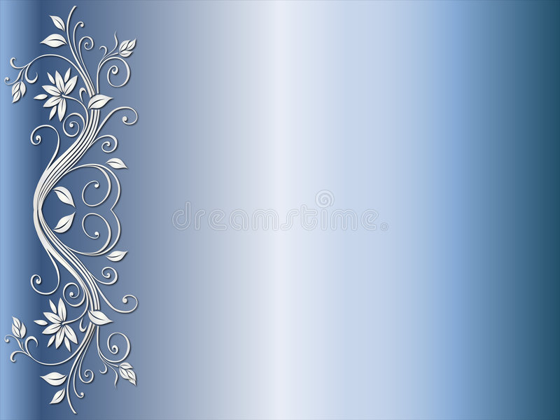 Floral corner design for wedding royalty free illustration