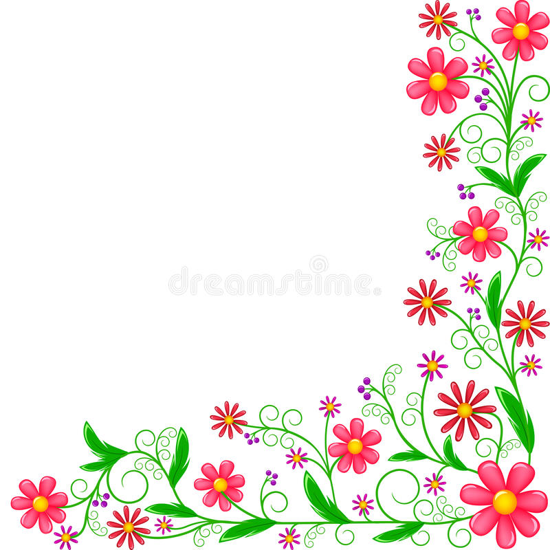 Floral corner ornament royalty free stock photography