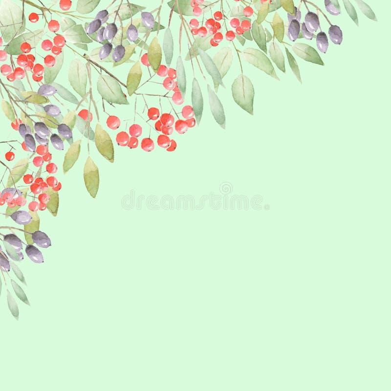 Floral corner stock illustration
