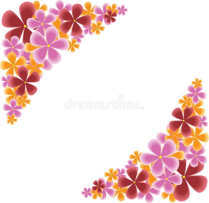 Download Floral corners stock vector. Image of vector, orange - 24294156
