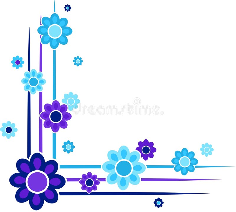 Floral corners stock illustration
