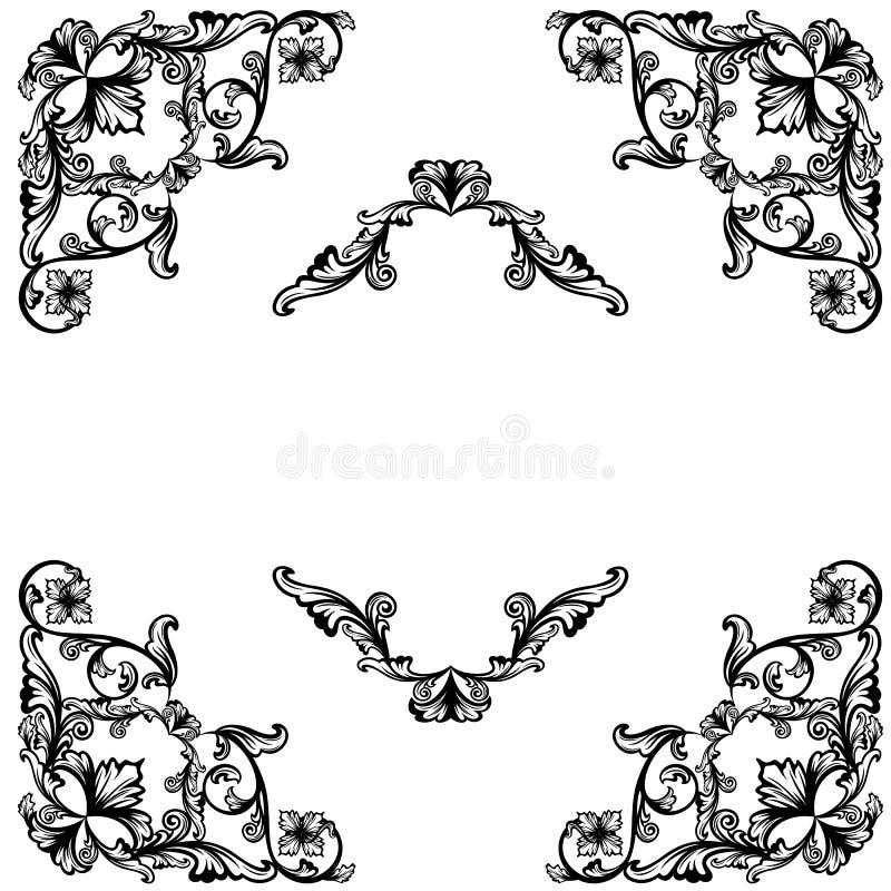 Floral Corners Design Stock Vector. Illustration Of Decor