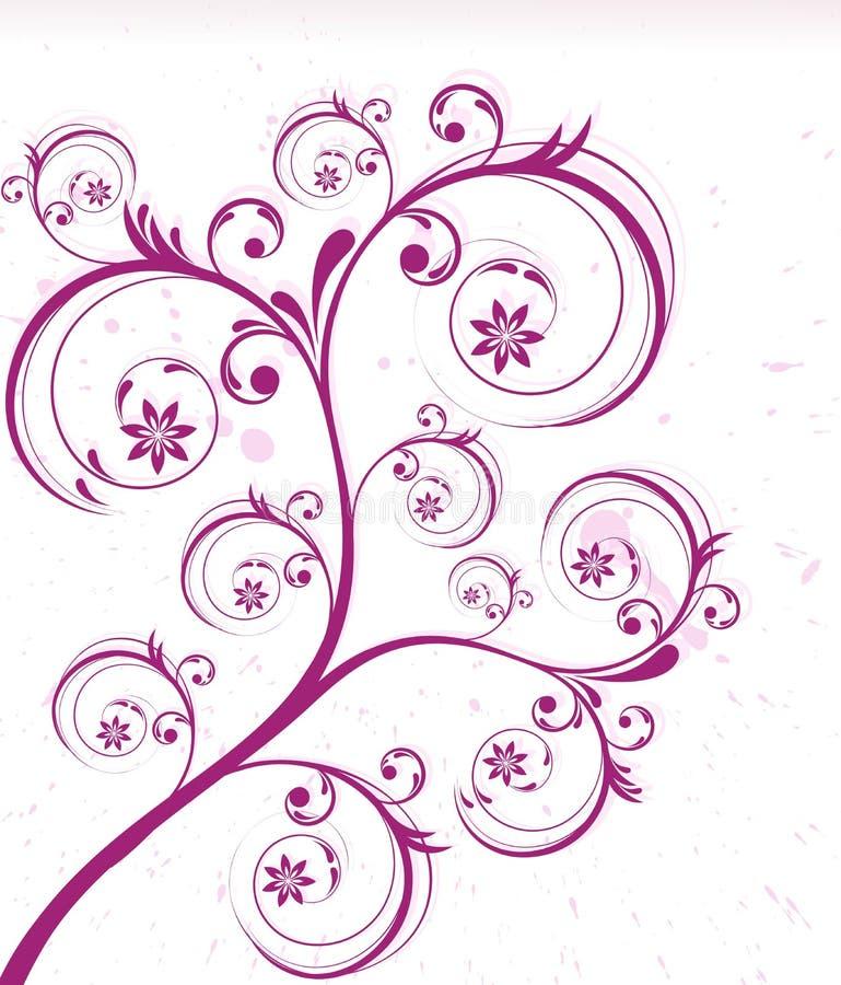 Floral creativo abstrato ilustração royalty free