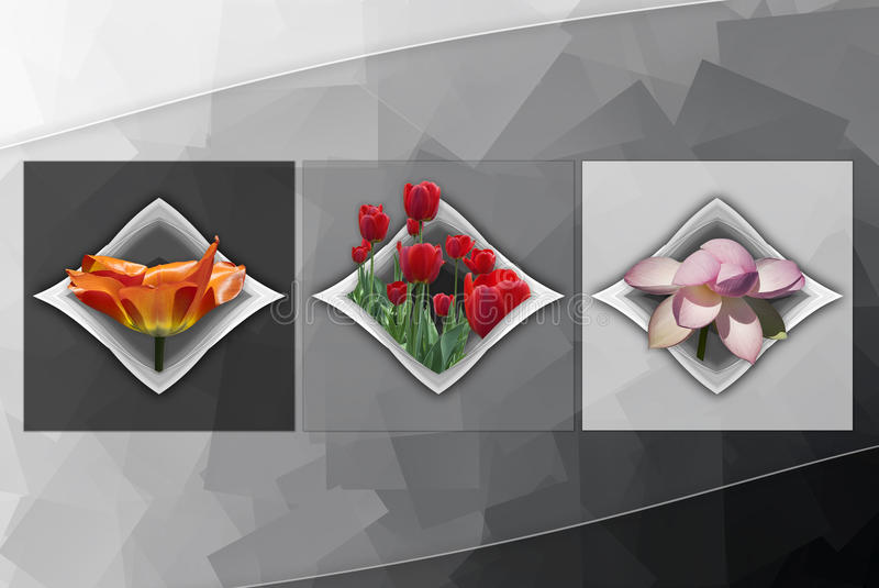 Floral Cubism royalty free stock photo