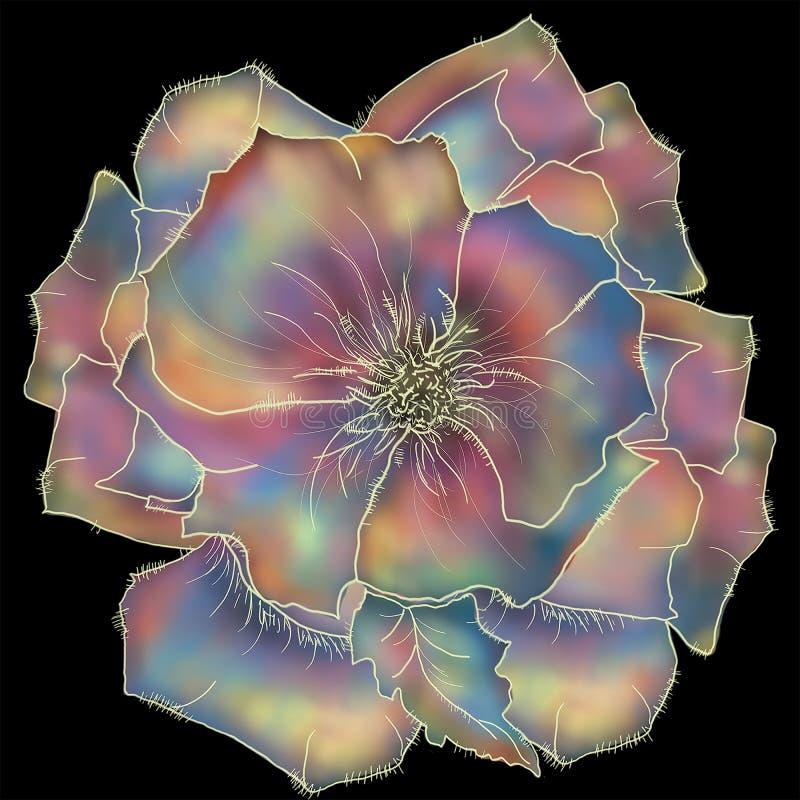 Floral d'isolement Style d'un batik d'illustration pour un fond et des affiches illustration libre de droits