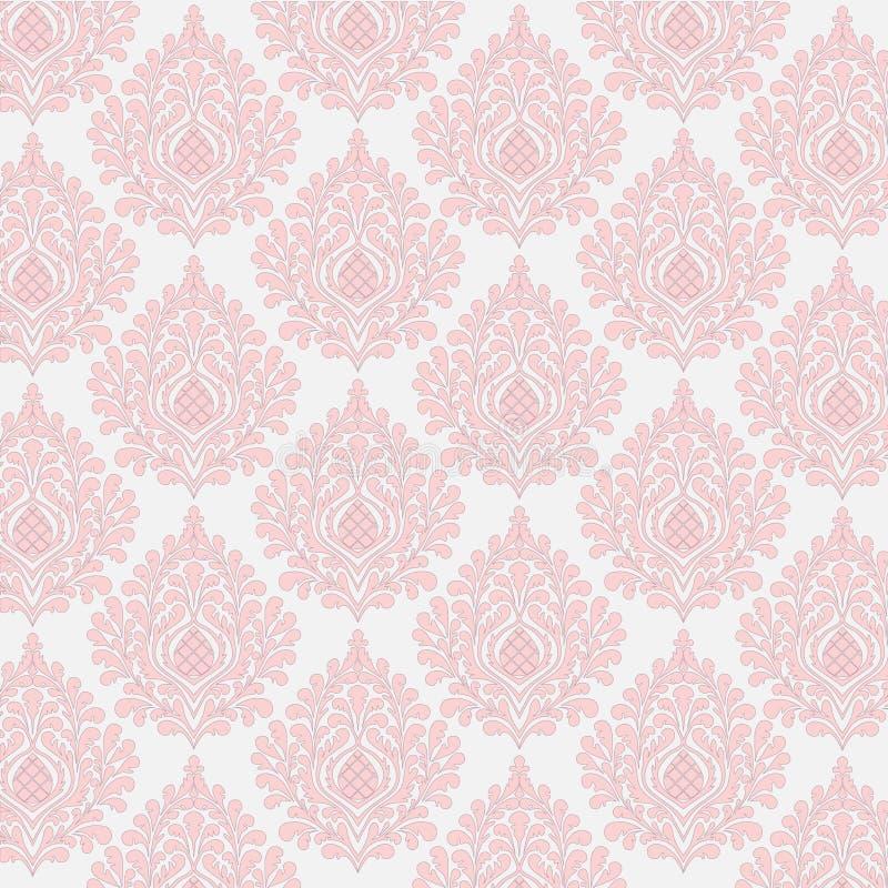 Floral damask background stock illustration