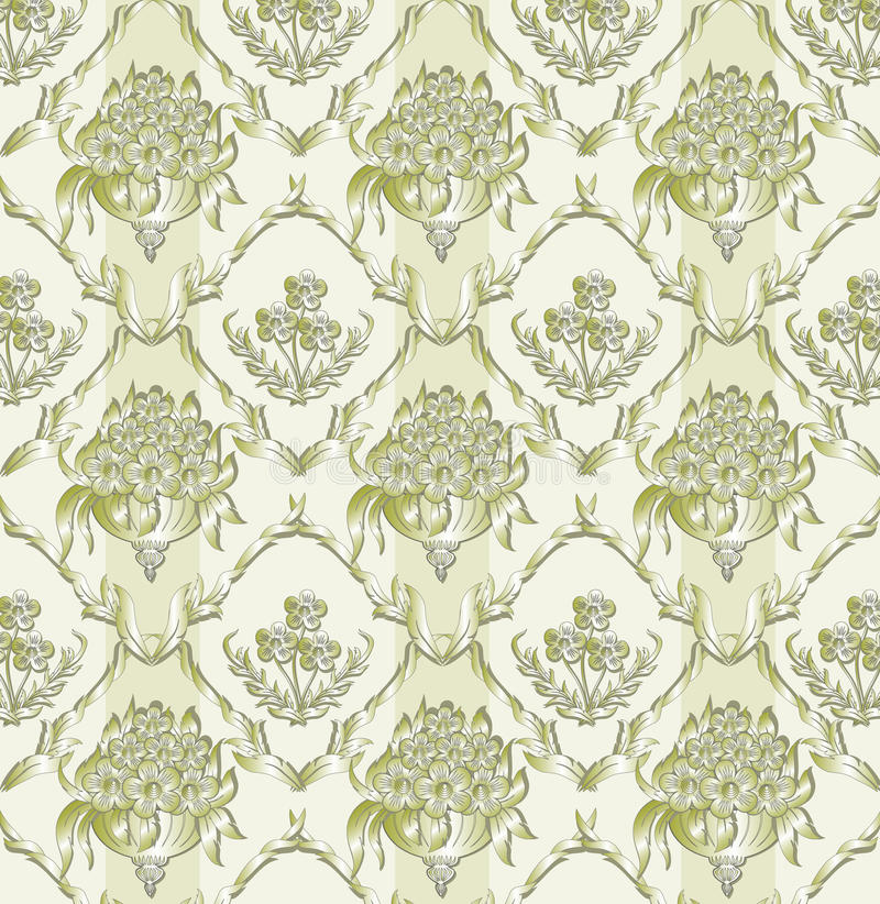 Floral damask background royalty free illustration