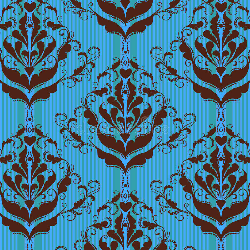 Floral damask background vector illustration