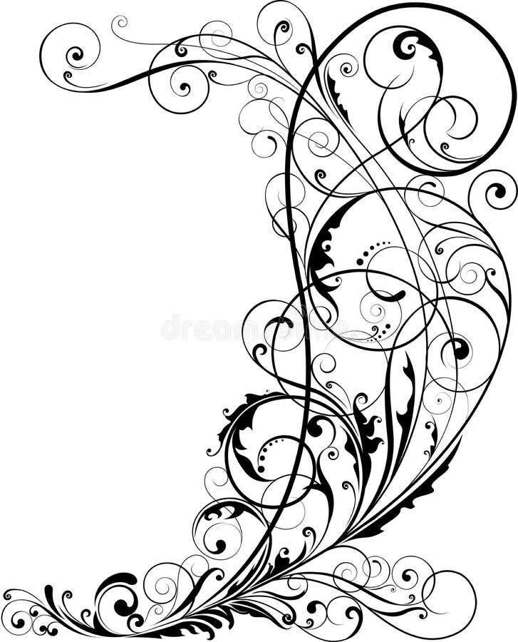 Floral de la esquina stock de ilustración