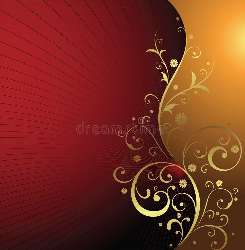 Floral de oro ilustración del vector